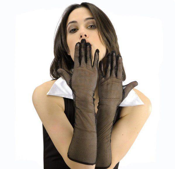 Black Netfish Gloves in pbh