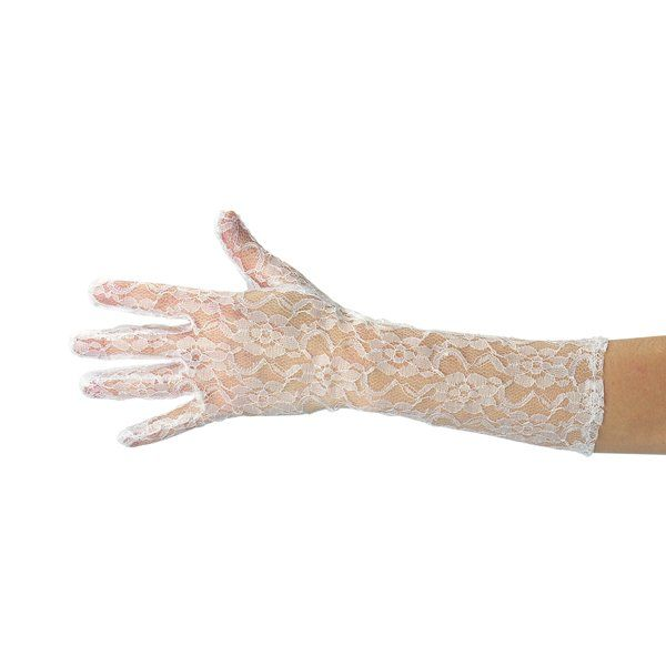 White lace gloves in pb