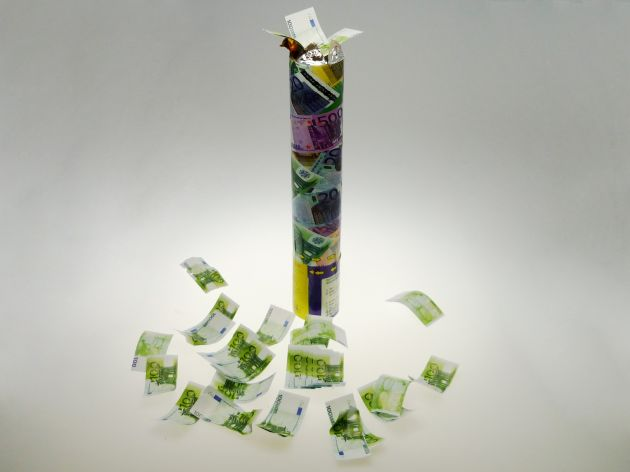 Partypopper money 30cm