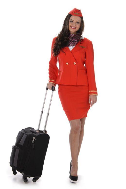 Red Flight Attendant