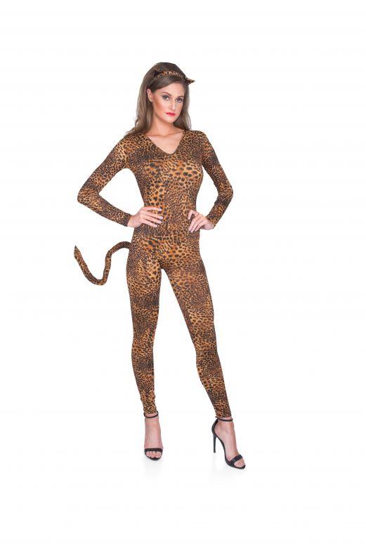 Snow Leopard Cat Suit