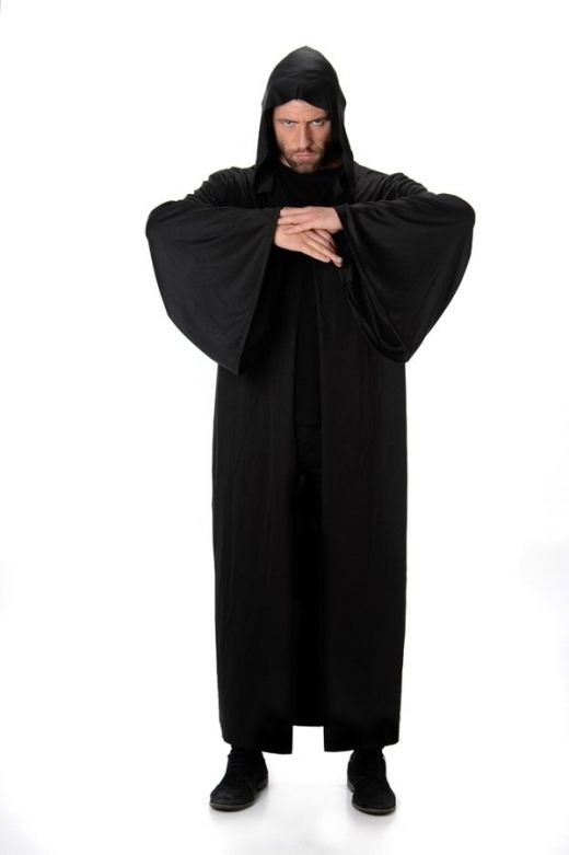 Black Hooded Robe - One-Size