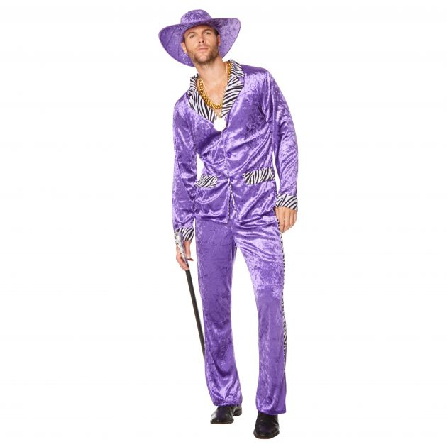 80'S Pimp Suit Purple