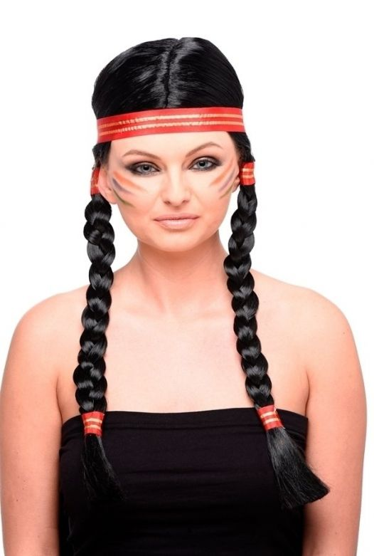Indian Squaw Wig & Headband