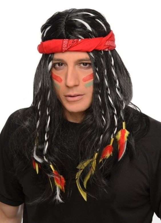 Indian Wig & Headband