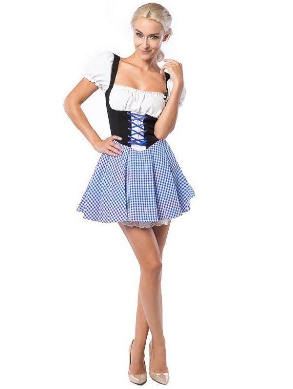 Oktoberfest Dress Eva Blue/Brown