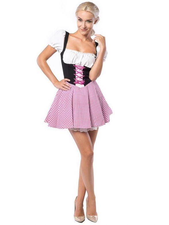 Oktoberfest Dress Eva Pink/Brown