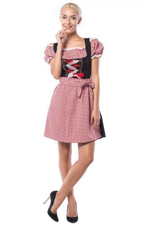 Oktoberfest Dress Anne-Ruth Red/Black