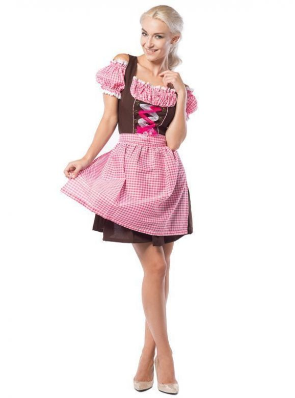 Oktoberfest Dress Anne-Ruth Pink/Brown