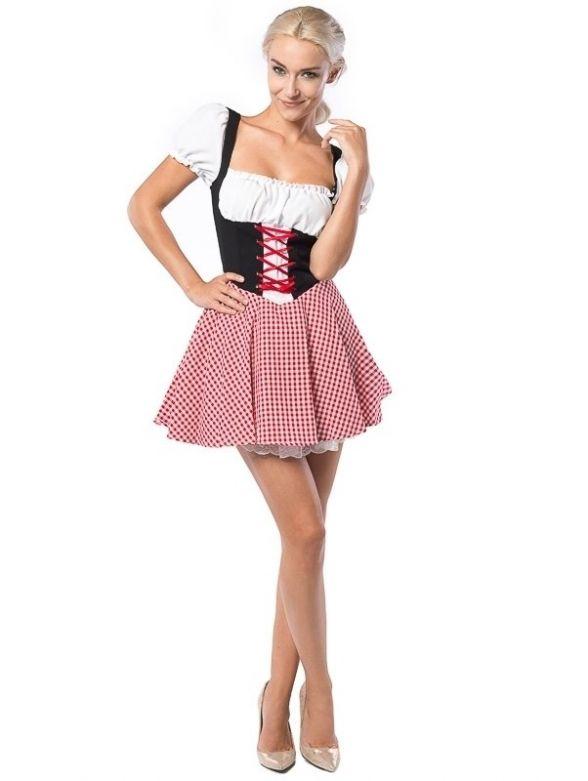 Oktoberfest Dress Eva Red/Black