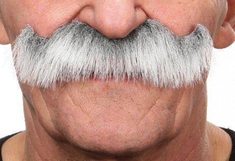 Mustache Luigi Grey