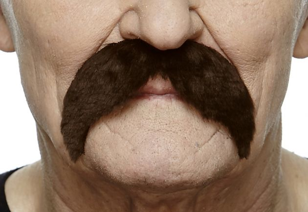 Mustache Wally Dark Brown