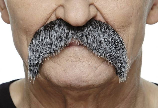 Mustache Wally Dark Grey