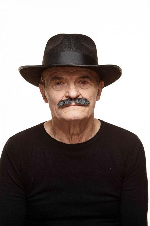 Mustache Dean Dark Grey