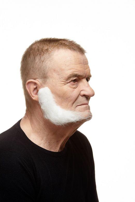Sideburns Mark White