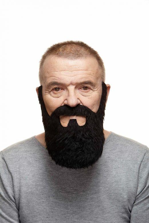Mustache with Beard Jamie Black