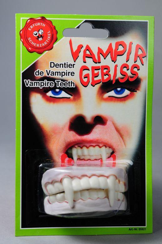 Vampire Character Teeth on card