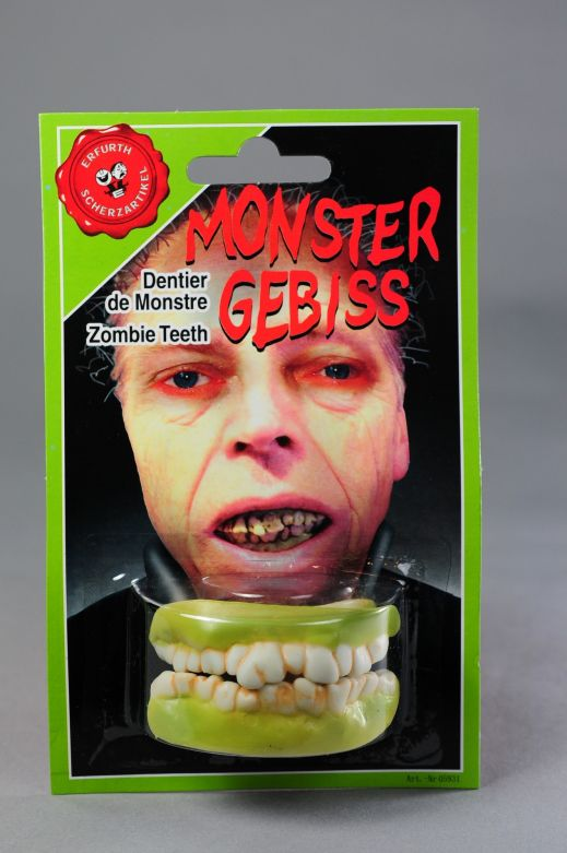 Monster Character Teeth on card