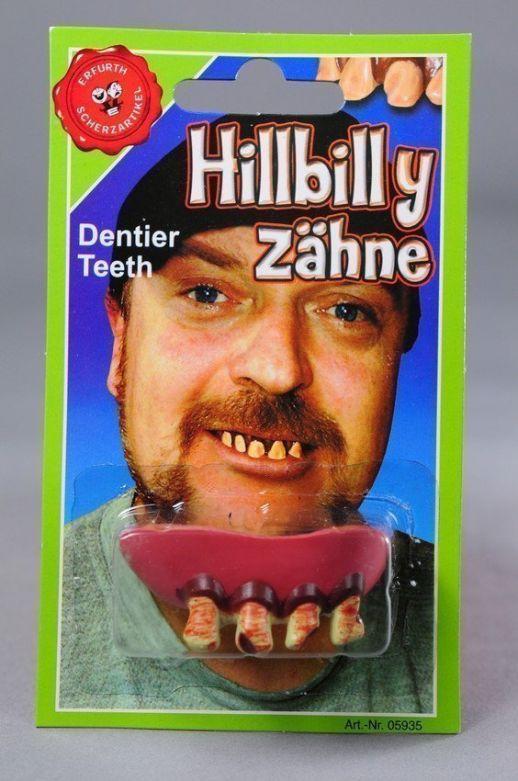 Hilbilly teeth on card