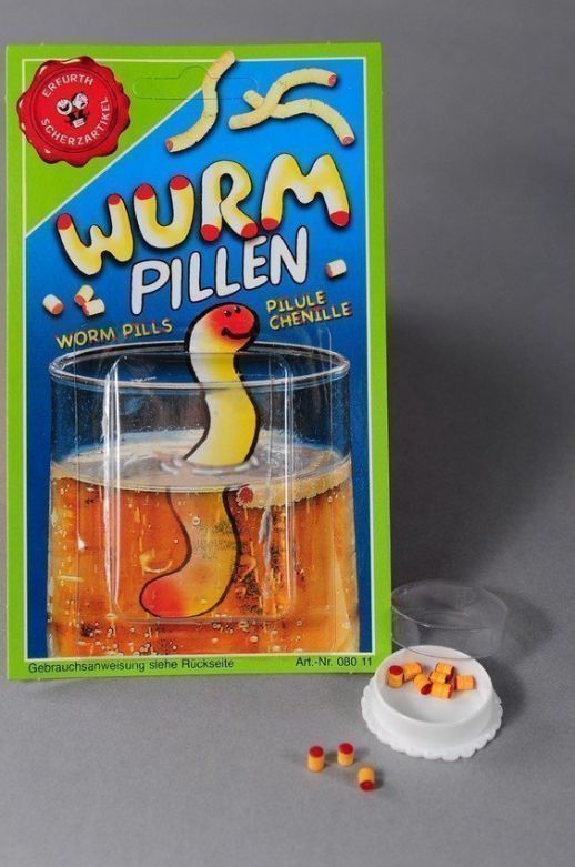 Worm pills (10 pieces) on card