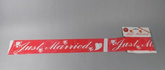 Party tape just married 6m on card