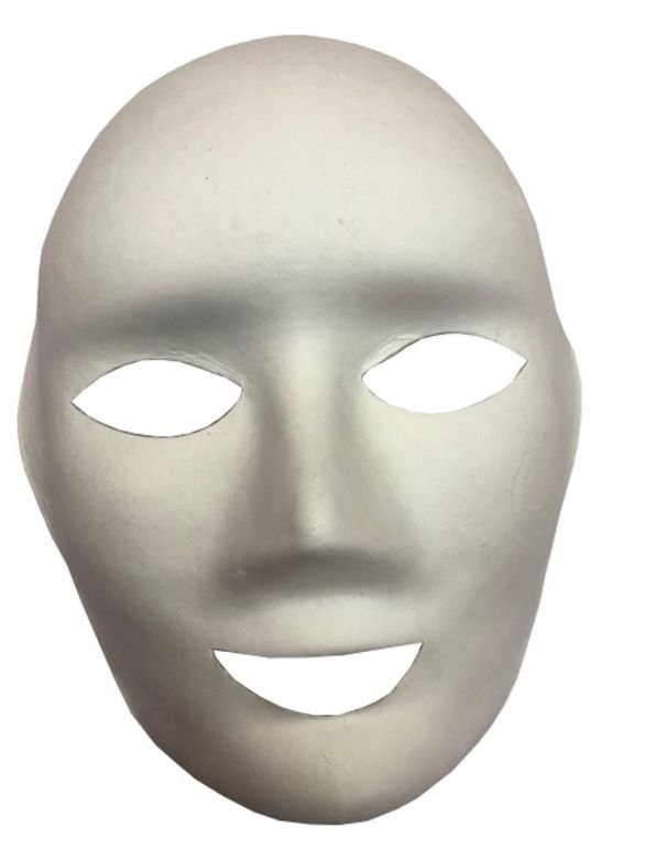 Mask White Face to be Painted