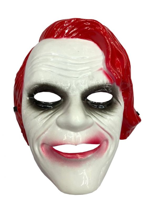 Joker Mask Red Pvc