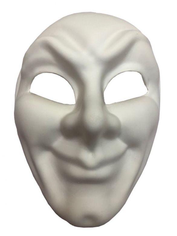 White Face Mask Smile Pvc
