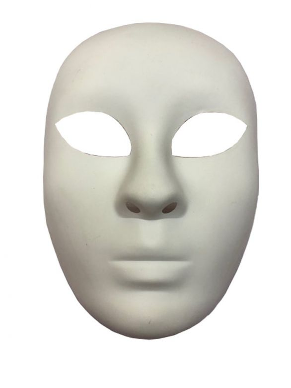 White Face Mask Pvc
