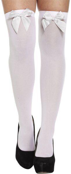 Stockings with Bow White/White Bow