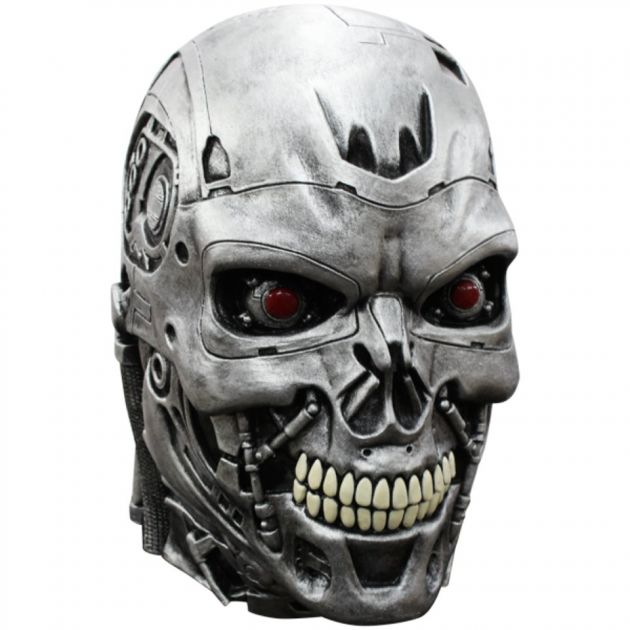 Volledig Hoofdmasker - Terminator: Endoskull Deluxe / One-size