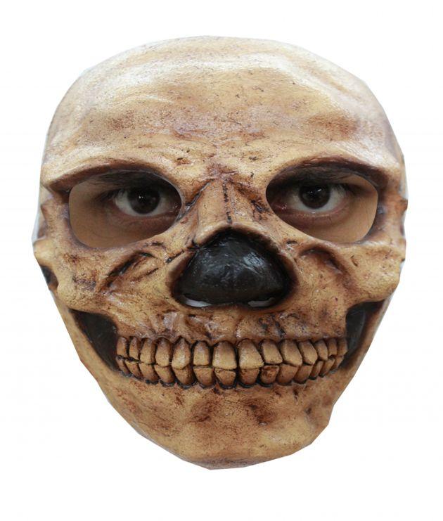 Face Mask - Skull 2 Tan