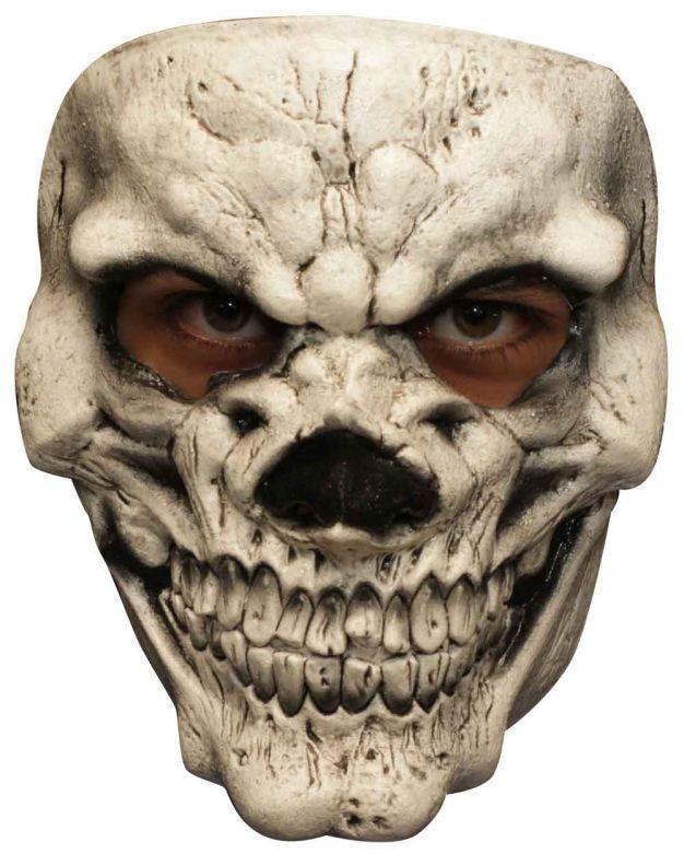 Face Mask - Skull 3 White