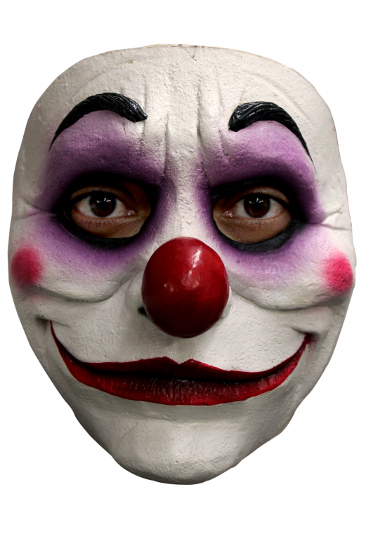 Gezichtsmasker - Purple Clown / One-size