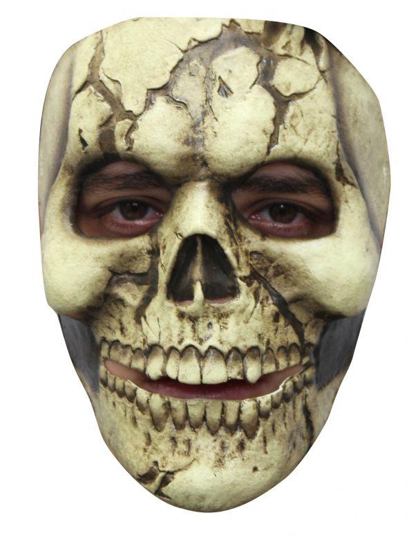 Face Mask - Cracked Skull