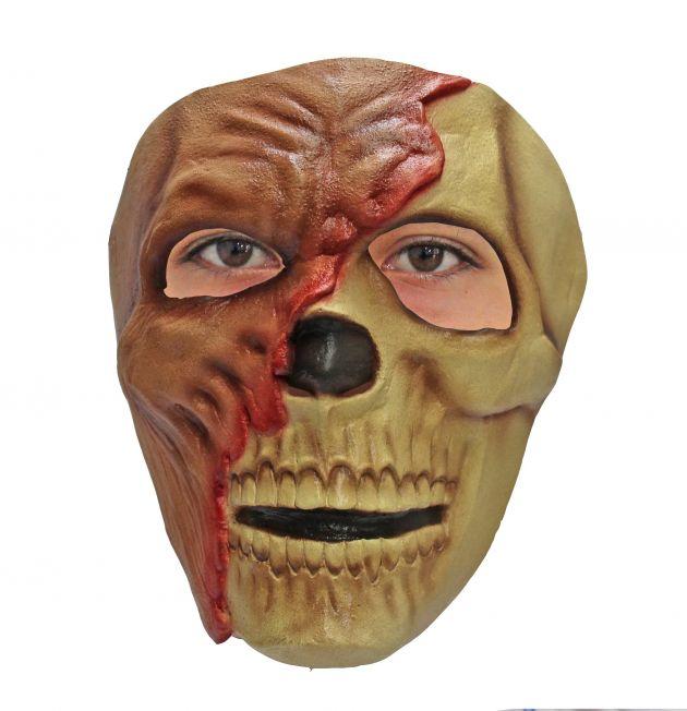 Face Mask - Zombie Half Skull
