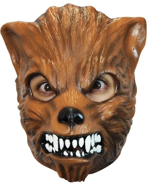 Face Mask - Brown Wolf