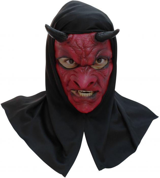 Face Mask with Hood - Evil Devil With Hood -