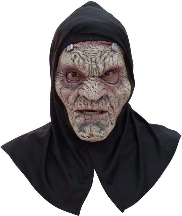 Face Mask with Hood - Frankostein With Hood -
