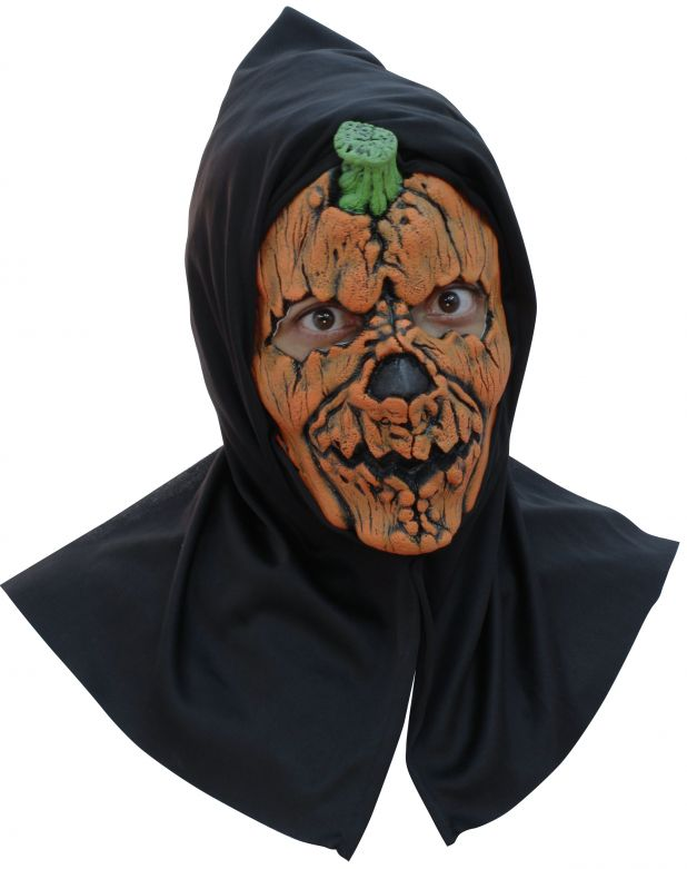 Face Mask with Hood - Pumpkin 1 With Hood -