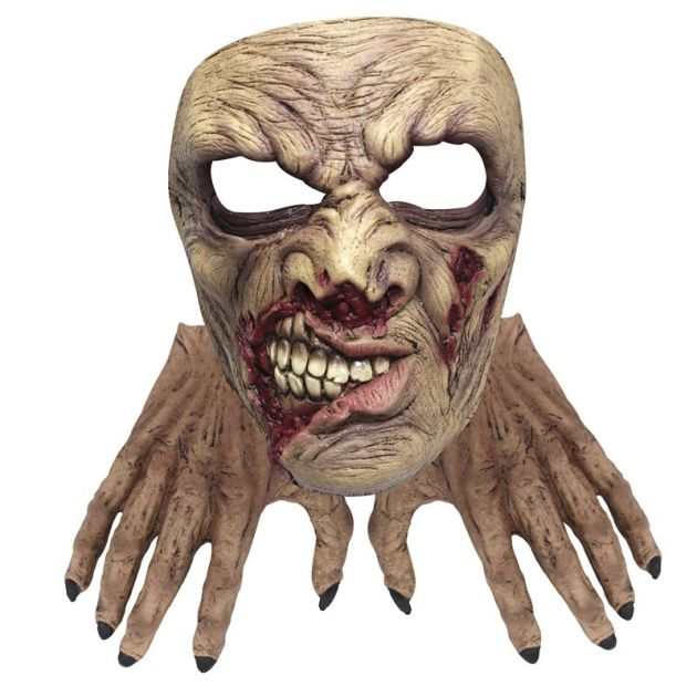 Face Mask with Hands - Zombie