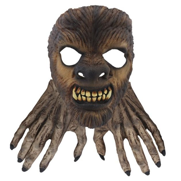 Face Mask with Hands - Wolf