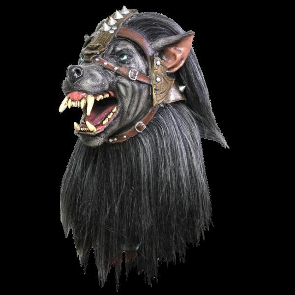 Headmask with Hair - Warrior Wolf