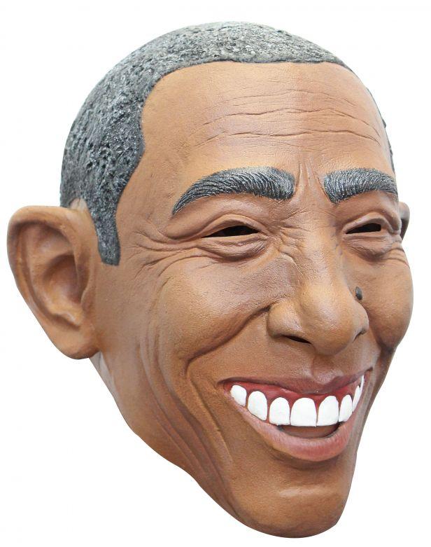 Volledig Hoofdmasker - Obama / One-size