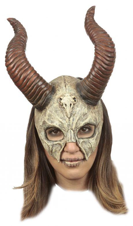 Chinless Mask - Mythical Horned Skull