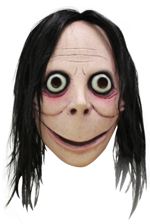 Face Mask with Hair - Creepypasta - Momo