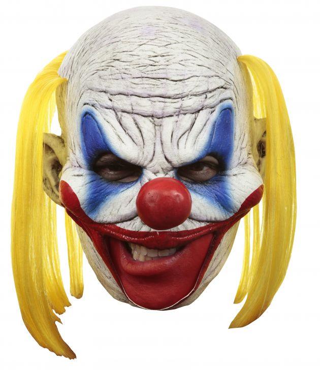 Chinless Mask + Teeth - Clooney Clown Deluxe