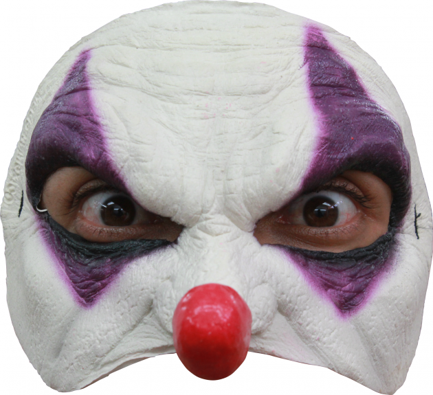 Half Mask - Purple Clown