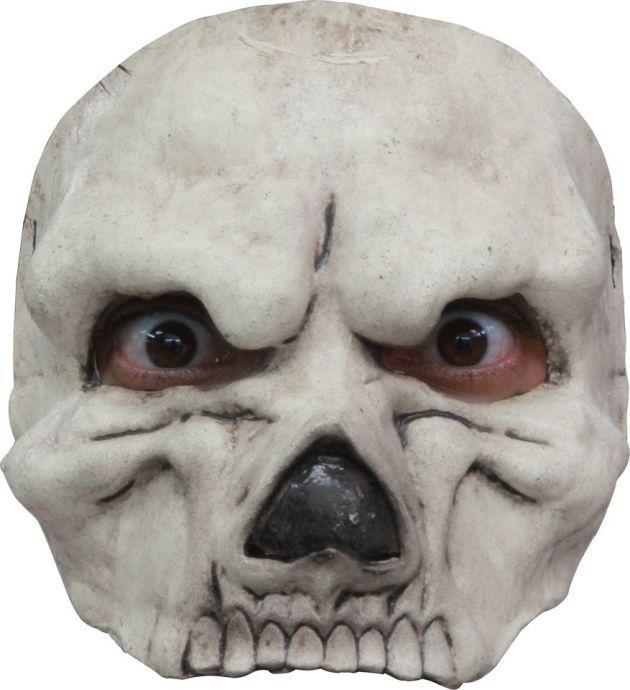 Half Mask - Skull White