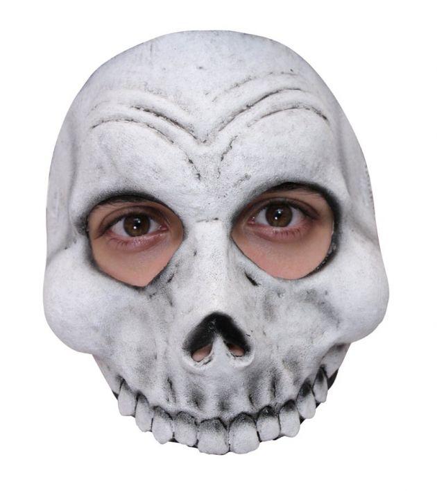 Half Mask -  White Skull